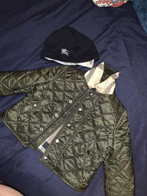 Burberry jacket and hat for Sale in New York, NY