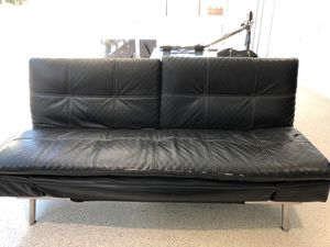 Futon Black Faux leather for Sale in Miami, FL