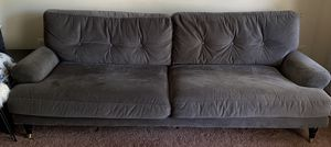 Crate and Barrel Oversized Grey Couch Sofa for Sale in Centreville, VA