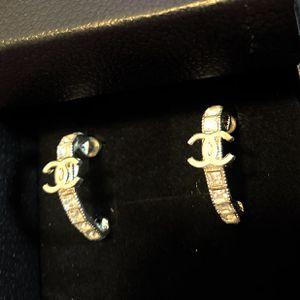silver rhinestone Watch Belt Style Earrings Studs for Sale in Fremont, CA