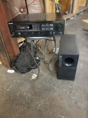 Reciever and bose speaker in subwoofer combo for Sale in Warwick, RI