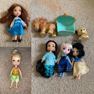Disney mini animator dolls Lot $30 FIRM. for Sale in West Springfield, VA