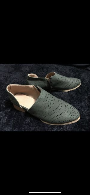 New women's shoes size 6.5 6 1/2 boots flats fall shoes for Sale in Chandler, AZ