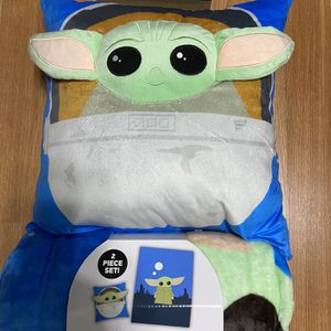 Baby Yoda Plush Blanket and Pillow for Sale in La Habra, CA