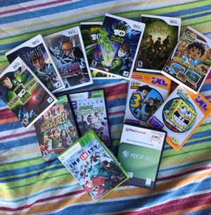 Wii games Xbox 360 games and iXL video games for Sale in Victorville, CA