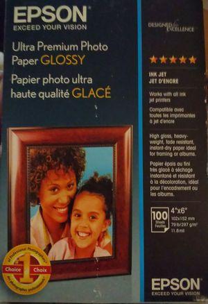 Brand New 4x6 Premium Epson Photo Paper for Sale in Colorado Springs, CO