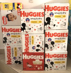 Huggies diapers for SALE for Sale in Miami Lakes, FL