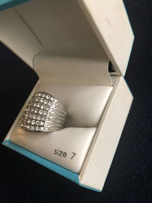 Women's silver plated ring size 7-8 for Sale in Houston, TX