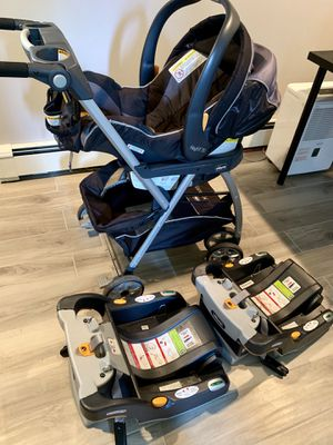 Chicco car seat, stroller & 2 bases for Sale in Salem, NH