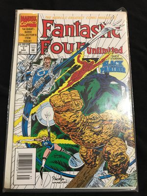 Fantastic for unlimited guest starring black panther comic book for Sale in Clarksburg, WV
