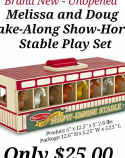 Brand New UNOPENED- Take-Along Show-Horse Stable Play Set BY Melissa and Doug for Sale in Buford,  GA