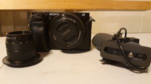 Sony a6000 w/ 2lenses & extras for Sale in Nashville, TN