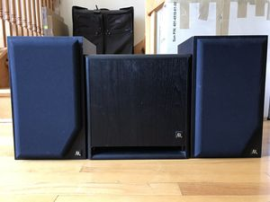 ACOUSTIC RESEARCH S-108PS Power Subwoofer (100W) & 216PS Speakers Pair (120W) for Sale in Chicago, IL