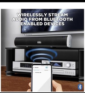home theater system retails $70 new in box High-Fidelity Ultraslim Bluetooth Wireless TV Home Theater Sound Bar with remote for Sale in Redlands, CA