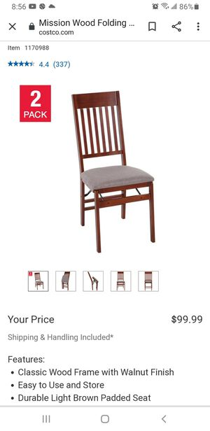 Like New Wooden Folding chairs for Sale in Fresno, CA