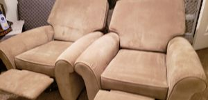 Upscale Sofa 2 Recliners like new Flexsteel for Sale in Frederick, MD