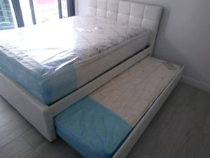 $499 full twin trundle bed bed 2 mattress brand new free delivery same day for Sale in Miami Gardens, FL