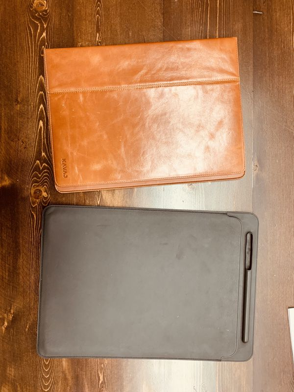 "Apple iPad Pro 12.9"" Leather Sleeve w Bonus Case"
