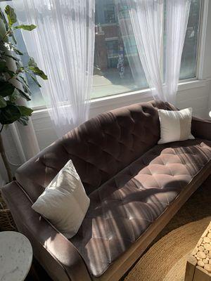 Tufted Velvet Sleeper Sofa for Sale in Seattle, WA