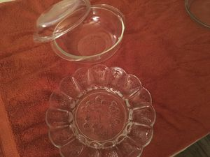 Pyrex Bowl and lid and egg plate (not Pyrex) for Sale in Boynton Beach, FL