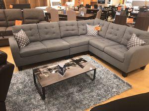 Gray microfiber sectional sofa for Sale in Dallas, TX