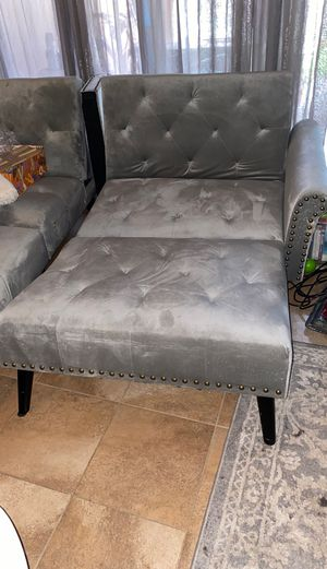 Foding futon chaise (legs need repair and arm is scratched) for Sale in Visalia, CA