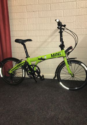 Mini Cooper folding bike made by BMW lime green for Sale in Denver, CO