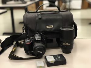 NIKON D5500 - like new - 2 lenses, 2 batteries + case for Sale in Dallas, TX
