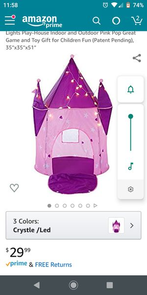 Castle tent with flickering lights for Sale in Richland, WA