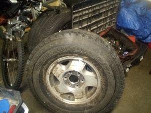 Silverado stock 16 inch rims & tires for Sale in Everett, WA