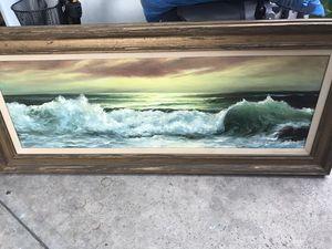Pintura hecha a mano al olio pintada por picachu for Sale in Long Beach, CA