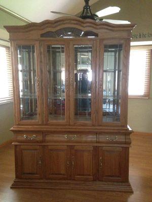 Oak China Hutch for Sale in Loveland, CO