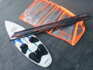 Mistral Vintage 275 Windsurfing Board w/ mast and Sail for Sale in Pasadena, CA