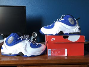 Nike penny 2 size 12 white, blue new version for Sale in Reedley, CA