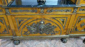 Antique bronze wood armoire - china cabinet for Sale in North Miami, FL