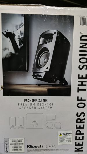 Klipsch ProMedia 2.1 THX Desktop Speaker System for Sale in Newport News, VA