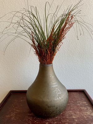 Pottery boho vase with dried flower for Sale in Mesa, AZ