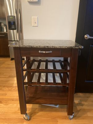 Very nice dark cherry granite top wine bar for Sale in Nashville, TN