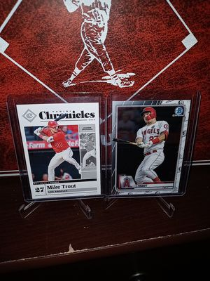 2020 Panini & Topps Baseball! 2 Hot Mike Trout Cards! for Sale in City of Industry, CA