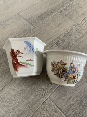 Asian Chinese Porcelain Planters for Sale in Chino Hills, CA