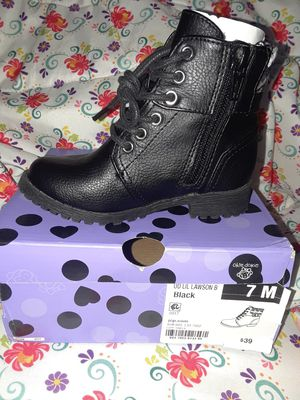 Blk Boot 7 toddler for Sale in Lincoln Acres, CA