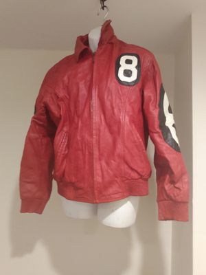 Original 8 ball leather hooded jacket for Sale in Camden Wyoming, DE