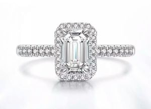 Solid 925 Sterling Silver Moissanite Engagement Ring for Sale in Wichita, KS