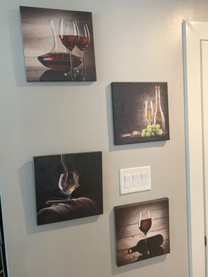 8 wine, whiskey and cigars photos set for Sale in Houston, TX