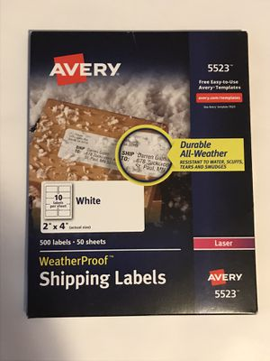 "500,2""x4"" Wetherproof Shipping Labels for Sale in Paducah, KY"