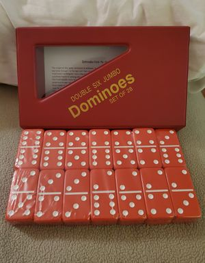 Brand new Double six jumbo Dominos set of 28 complete for Sale in Riverside, CA