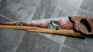 Hand painted saw for Sale in Dixon, MO