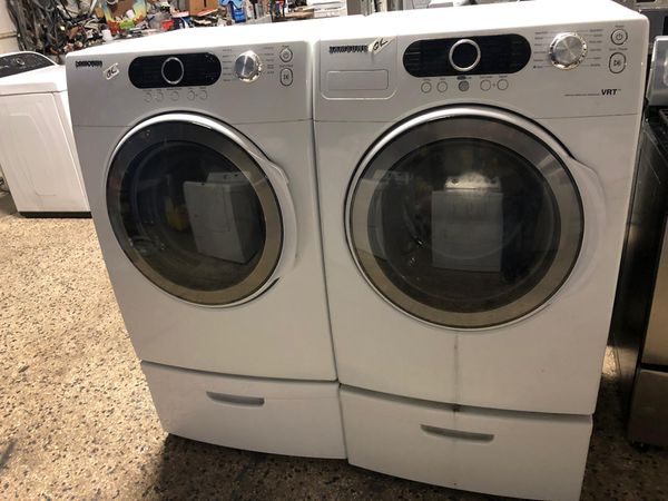 Samsung front load washer and dryer electric set with warranty