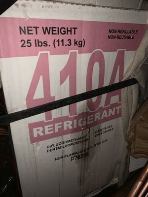 NEW Factory Sealed 25lb Freon 410A Refrigerant two for $150 for Sale in Katy, TX