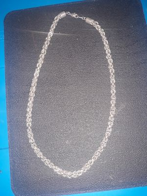 18inch Hand Crafted Mens Silver Rope Chain for Sale in Fresno, CA